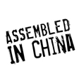 Assembled in China rubber stamp vector image vector image
