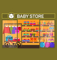 baby store with children items vector image