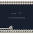 Background with marine rope vector image vector image