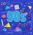 best of 90s illistration with abstract retro vector image vector image