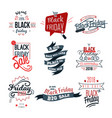 black friday big sale logo sign set vector image