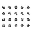 box silhouette icon set carton cardboard boxes vector image vector image