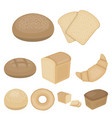 bread set icons in cartoon style big collection vector image