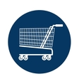 cart shopping blue background circle icon vector image