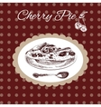 Cherry pie vintage style vector image