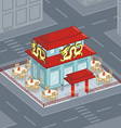 Chinese restaurant vector image