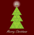 christmas tree fractal designed christmas card vector image