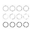 circle arrows vector image vector image