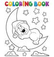 coloring book sleeping bear theme 2