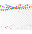 confetti isolated falling confetti vector image vector image