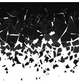 destruction effect abstract cloud pieces and vector image vector image