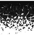 destruction effect abstract cloud pieces vector image vector image