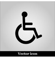 Disabled Handicap Icon on grey background vector image vector image