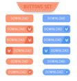 download buttons set collection of web buttons vector image