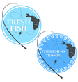 emblem for fishing vector image