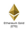 ethereum gold etg crypto c vector image