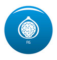 fig icon blue vector image vector image
