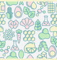 food intolerance seamless pattern vector image vector image