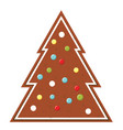 gingerbread christmas cookie new year bakery icon vector image vector image