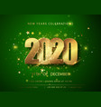 green christmas and new year posters set with 2020 vector image vector image