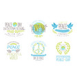 international peace day life in peaceful world vector image vector image