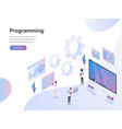 landing page template computer programming vector image vector image