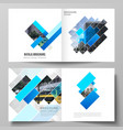 layout two covers vector image