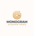 letter g monogram modern concept logo template vector image vector image