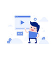 live streaming video concept vector image