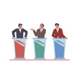 live tv debate political dialog between vector image