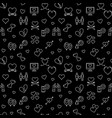 love dark concept seamless pattern in vector image vector image