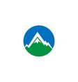 mountain nature logo design template vector image vector image