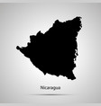 nicaragua country map simple black silhouette on vector image