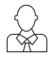 office worker thin line icon manager vector image vector image