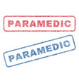 paramedic textile stamps vector image vector image