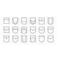 pocket patch set pockets for fashion design shirt vector image vector image