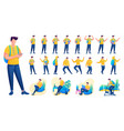 presentation in various poses and actions vector image