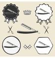 razor barber symbol emblem label collection vector image