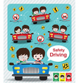 Safety Driving infographic Sign vector image