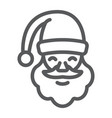 santa claus line icon christmas and character vector image vector image