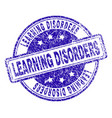 scratched textured learning disorders stamp seal vector image