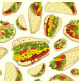 seamless pattern mexican food vector image