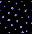 seamless pattern with ultraviolet purple stars on vector image vector image