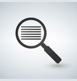 search document pictograph style is a flat iconic vector image vector image