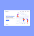 seo optimization landing page team work with vector image