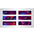 set abstract wavy colorful banners vector image