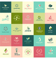 set flat design beauty and nature icons vector image vector image