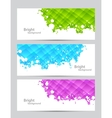 Set of banners with textures vector image vector image