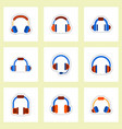 set of color label design collection of music vector image vector image