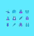 set simple line icons water sport vector image vector image